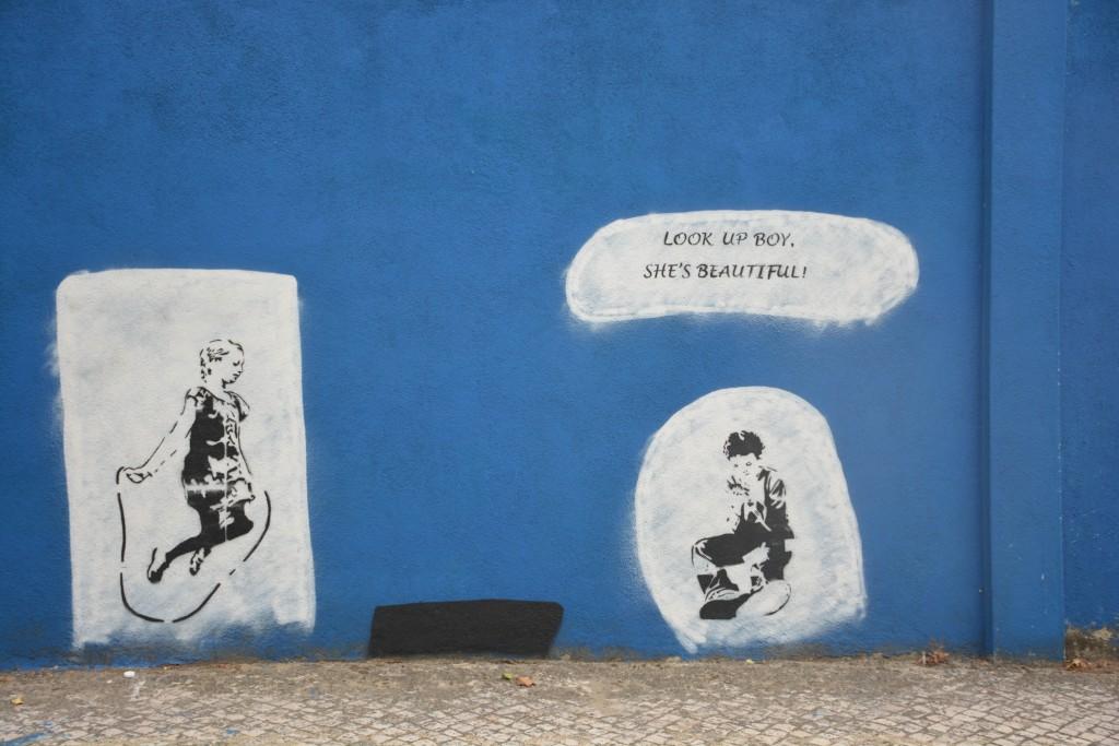 The blue wall, Lissabon