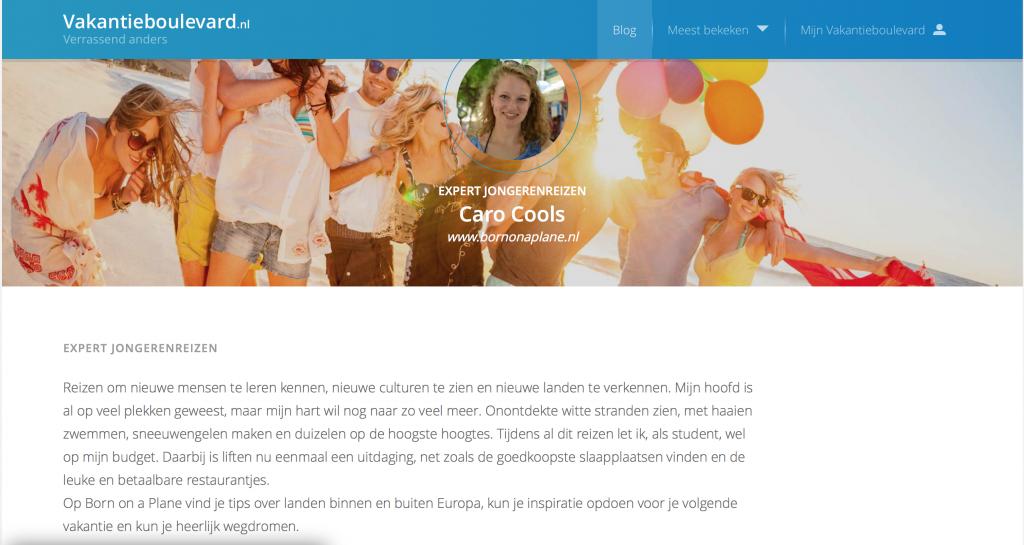 expertblogger voor Vakantieboulevard