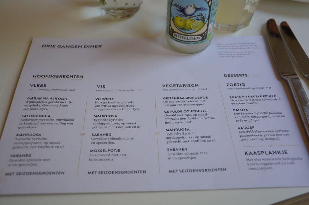 menukaart - Restaurant Syr