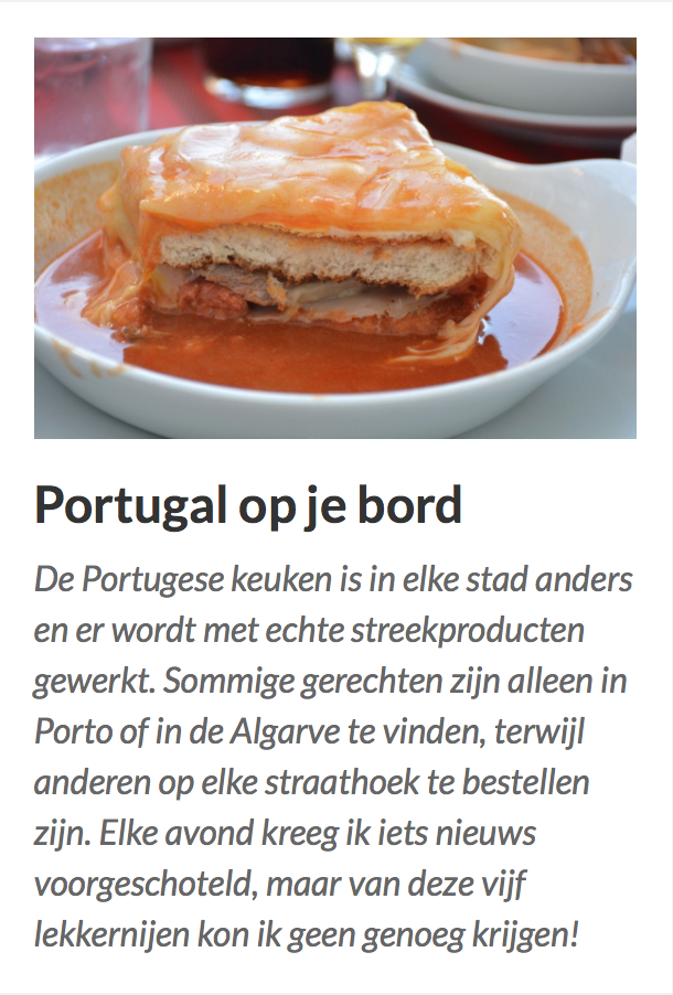 Portugal op je bord