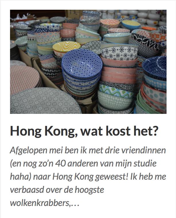 Hong Kong, wat kost het?