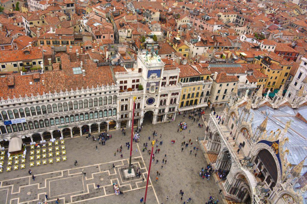 Uitzicht vanaf de Campanile, Venetië